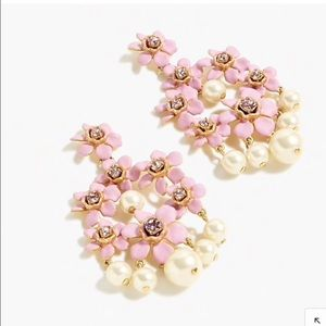 NWT JCREW PEARL STONE CHANDELIER CLUSTER EARRINGS